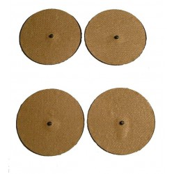 Round 76mm SNAP Adhesive Electrodes Set/4